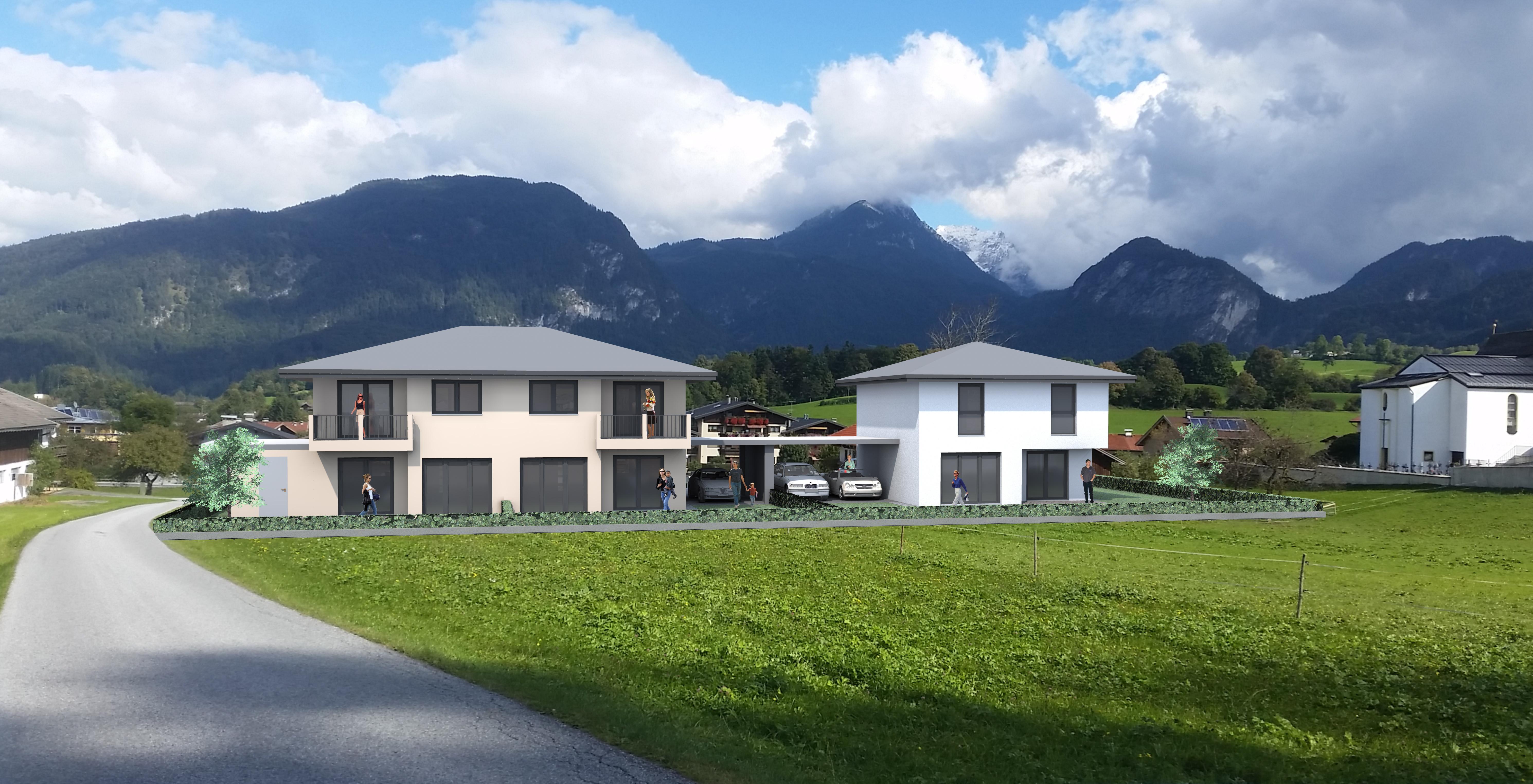 """Ein Doppelhaus und ein Einfamilienhaus in """"Schwoich"""""""